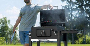 Test barbecue charbon avec fumoir TecTake